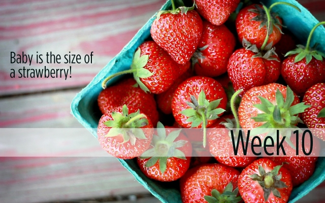 Week 10: Baby is the size of a strawberry!