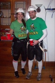 "Mighty Ducks (Julie ""The Cat"" Gaffney and Adam ""Cake Eater"" Banks)"