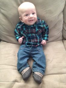 Flannel (just like daddy)